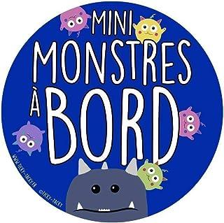 Bébé à Bord | Sticker Pour Voiture | Autocollant pour Voiture | Mini Monstres A Bord