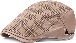 2019 Women Stripe Peaked Cap Stripe Peaked Cap for Unisex Cotton Adjustable Flat Cap Duckbill Newsboy Hat 57-59cm (Color : 2, Size : Free Size)