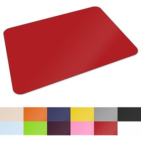 Gro/ße Schreibtischmatte Blau /& Gelb Schreibtischmatte f/ür Zuhause und B/üro  Doppelseitiger und rutschfester Tischschutz M/&W