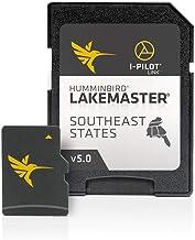 Humminbird LakeMaster Southeast States Edition Digital GPS Lake Maps, Micro SD Card, Version 5