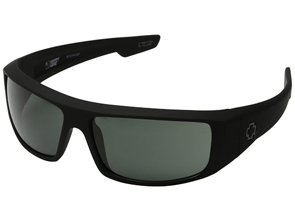 Spy Optic Logan (Soft Matte Black/Happy Gray Green) Sport Sunglasses