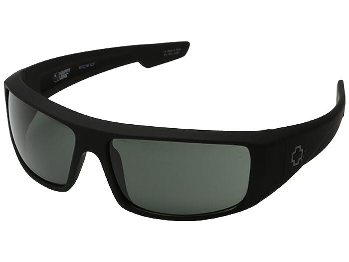 Spy Optic Logan (Soft Matte Black/HD Plus Gray Green) Sport Sunglasses