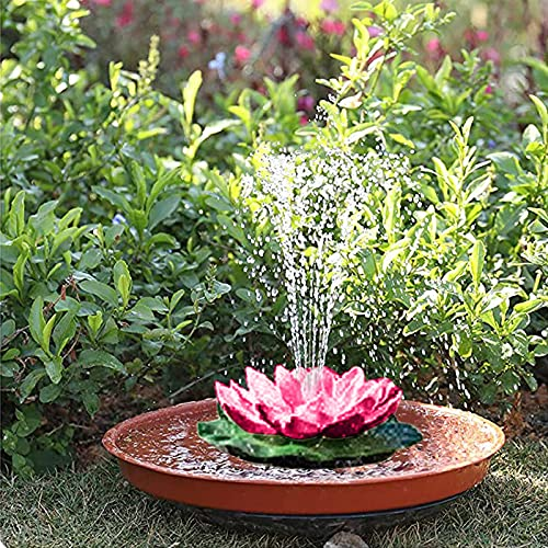 Huhu833 Schwimmende Lotus Laterne Solarleuchte Lotus LED Künstliche Lotusblüte Schwimmleuchten Teichleuchte Pool Teich Garten Festival Weihnachten Erntedankfest Dekoration (Pink)