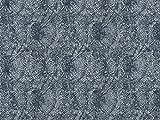 Vorhangstoff Jacquard Dune 2652/70 Muster Abstrakt blau