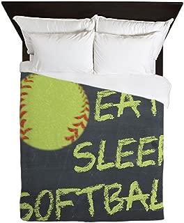 CafePress-Eat, Sleep, Softball-Queen Duvet