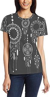 XiangHeFu T Shirt voor vrouwen meisjes Dreamcatcher Set aangepaste korte mouw