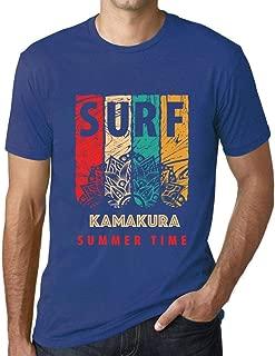 Men's Vintage Tee Shirt Graphic T Shirt Surf Summer Time Kamakura Royal Blue