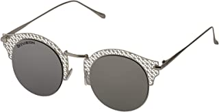Sky Vision Panto Sunglasses for Women, Black Lens, F3621