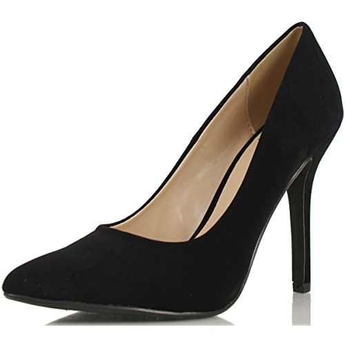 cd95612fe1a Black Velvet Pumps: Amazon.com