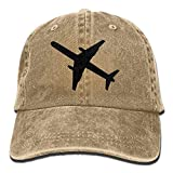 ferfgrg Airplane Denim Baseball Caps Hat Adjustable Cotton Sport Strap Cap for Men...