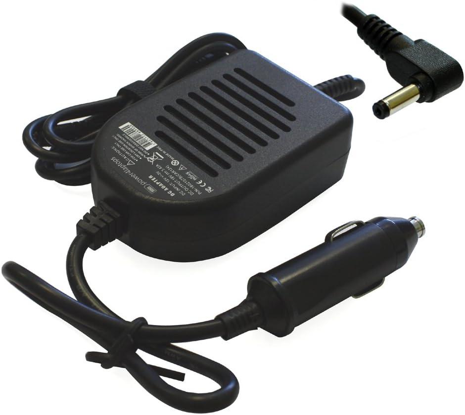 Power4Laptops Adaptador CC Cargador de Coche portátil Compatible con ASUS X560UD-EJ432
