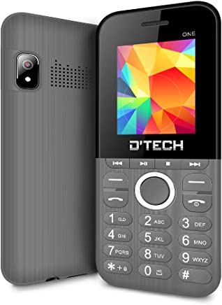 New D'Tech One - GSM Factory Unlocked Basic Feature Phone - Radio - Dual SIM - Music Player - Torch Light - VGA Camera (Gray)