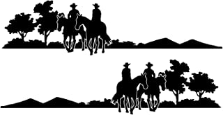 Decal Graphic Kit, Both Sides Left & Right - Trail Riders For Cowboy Cowgirl Country Girl Ranch Truck, 4x4 Or Horse Trailer - 10 1/2 x 41 1/2 inches Black