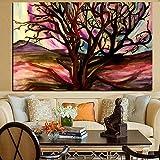 wZUN Pintura al óleo Abstracta del Arte Pop del árbol del Desierto Pintura de la impresión Digital Pintura de la Pared del Arte de la Lona decoración del sofá 60X80 Sin Marco