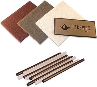 RaceWax Ski P-tex Base Repair Kit: 10 ptex, Metal Scraper, 3 Buffing Pads