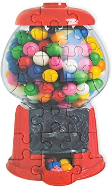 Playhouse Scratch & Sniff Gumball Machine 23-Piece Die-Cut Shaped Mini Puzzle for Kids