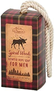 San Francisco Soap Company Spiced Woods Soap On A Rope, 10.5 Ounce
