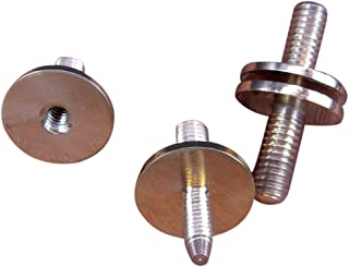 """JWL HAWNKOA PRODUCTS Solid Brass Cane Connectors Couplers 3/8"""" x 16 Threads to Split Canes (2)"""