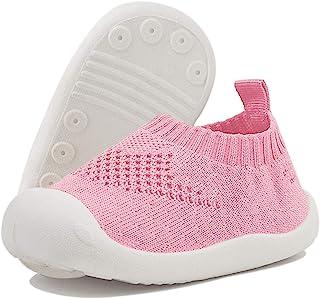 DEBAIJIA Bébé Chaussures Premier Pas pour Enfants Garçons Filles de 1-4 Ans, Chaussons en Toile/Maille de Marche Matériau ...