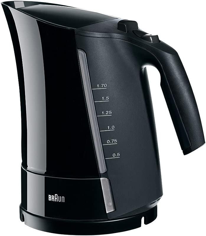 Braun WK300 Black Electric Tea Kettle 1 6 Liter 220 240 Volts Not For USA European Cord