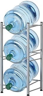 3-Tier Water Bottle Holder Cooler Jug Rack, 5 Gallon Water Bottle Storage Rack Detachable Heavy Duty Water Bottle Cabby Rack