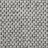 Teppich / Läufer Sabang | silber, Sisaloptik | Qualitätsprodukt aus Deutschland | GUT Siegel | kombinierbar mit Stufenmatten | viele Breiten und Längen (66×150 cm) Küchenläufer Flurläufer Teppichläufer - 3