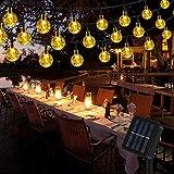 Vegena 7M 50 LED Guirnaldas de Luces Exterior Solar, IP65 Impermeable 8 Modos Luces Decorativas, Guirnaldas Luminosas para Exterior, Interior, Jardines, Casas, Boda, Fiesta de Navidad (Blanco Cálido)