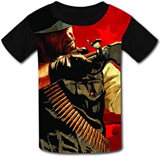 Kids T-Shirt Red-Dead Redem-ption2 Blackwater 3D Printed Crew Neck Youth T Shirts Tee for Boys Girls Children