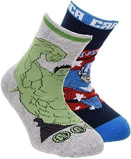 Pack 2 calcetines Los Vengadores Avengers Hulk y Capitán América T.23/26