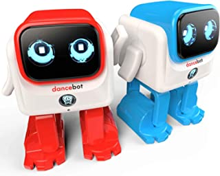 Echeers Kids Toys Dancing Robot for Boys and Girls, 2 Pack Educational Dance Robot Toys for Kids with Stereo Bluetooth Speakers, Rechargeable and Follow Music Beats Rhythm, All Age Children -Red, Blue