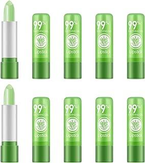Ownest 10 Packs Aloe Vera Lipstick, Long Lasting Nutritious Soothing Lip Balm, Lips Moisturizing Magic Temperature Color Change Lipstick, Lip Care