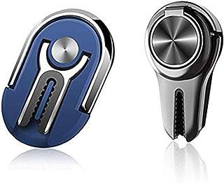 Multipurpose Phone Ring Holder Mobile Phone Bracket Holder Stand 360 Degree Rotation for Car Home(2pcs)(Black,Blue)