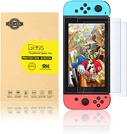 Leandro Screen Protector Tempered Glass 2-pack for Nintendo Switch, 9H Hardness HD,Anti Glare, Easy to Install, Bubbles Free
