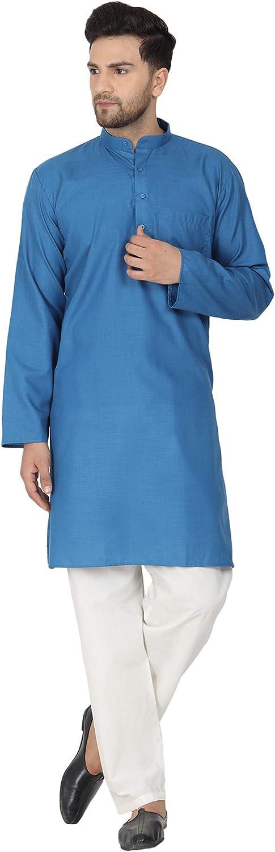 SKAVIJ Men's Kurta Pajama Polycotton Casual wear Festive Season Dress