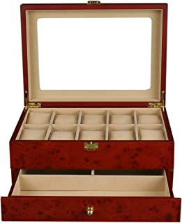 Watch Case Display Box with Clear Top