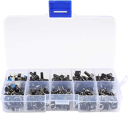 Larcele 180 Pieces 10 Types Tactile Push Button Switch Micro Tact Switches Assortment Kit ANKG-06