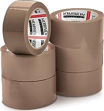 MERRIMEN 6 rollen Pack bruine verpakkingstape voor pakketdozen. Heavy Duty, Sterke, Veilige kleverige afdichting voor lang...