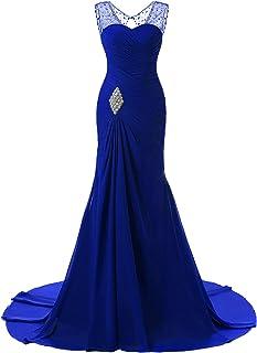 فستان ليلي لحفلات الزفاف طويل بقصة حورية البحر للسيدات