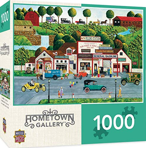 MasterPieces Hometown Gallery The Old Filling Station - Gas Station 1000Piece Jigsaw Puzzle by Art Poulin, Model:71626 -  Masterpieces Puzzle Co.