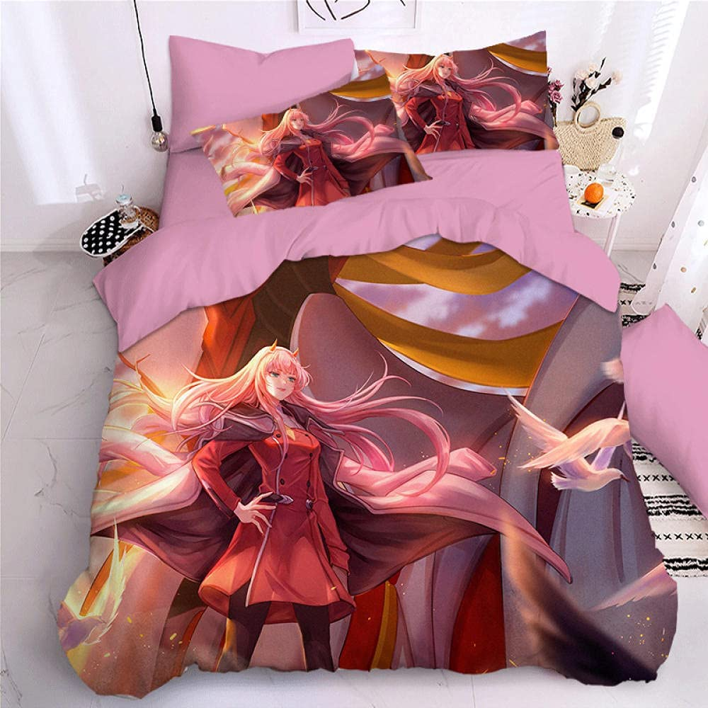 Duvet Cover Set Darling in The Decorative OFFicial mail order Beddi FRANXX 3 Brand Cheap Sale Venue Piece