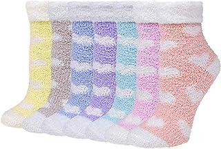 Calcetines de felpa de amor para mujeres y niñas, calcetines suaves y cálidos de invierno para mujeres, suaves y cálidos, calcetines cálidos y acogedores para el invierno (7 pares).