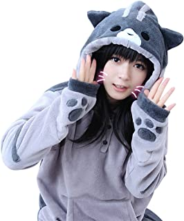 Anime Sweatshirt Neko Atsume Hoodie Cute Cat Cosplay Costume Fleece