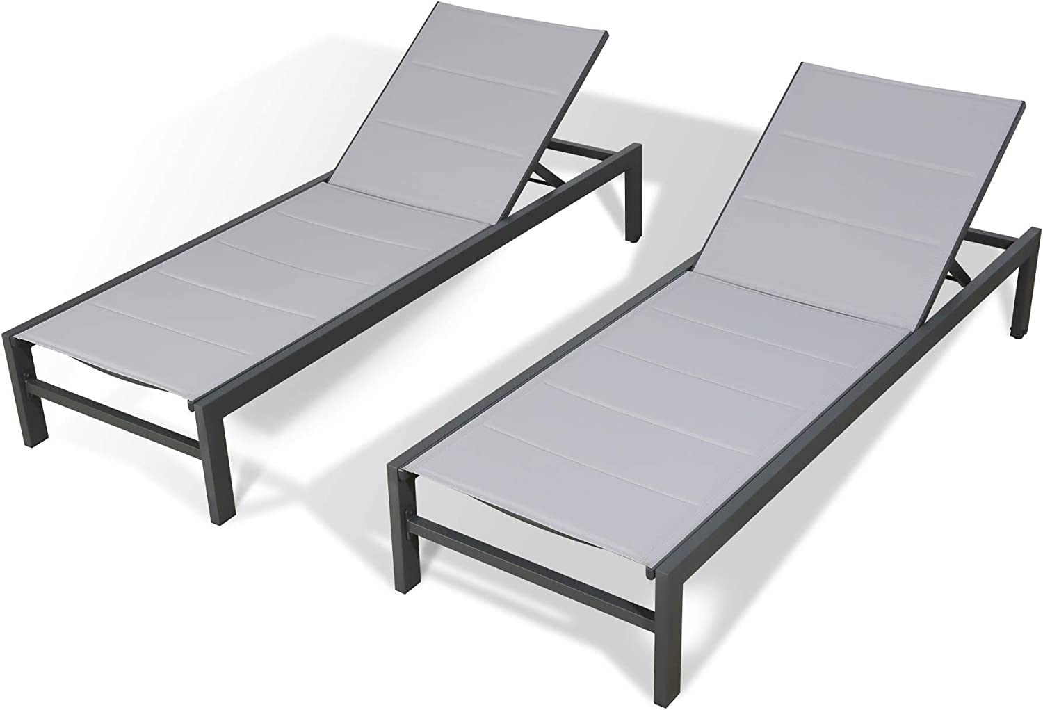 Peak All 1 year warranty items in the store Home Furnishings 2 Pieces Chaise Aluminum Lo Padded Outdoor