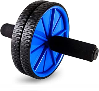Bloodyrippa Abs Wheel Roller for Advanced Abdominal Exercises Core Workouts and General Fitness, Dual Wheels and Foam Handles, Blue