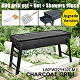 Outdoor Foldable BBQ Charcoal Grill Portable Hibachi Barbecue Camping Large Broil Kebab Grate