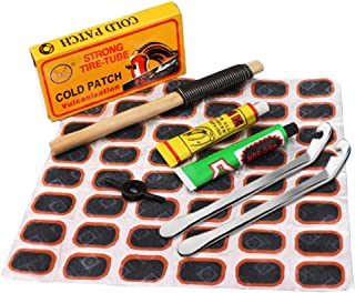 Perfeclan Bike Tyre Puncture Maintenance Tyre Patch Rubber Cycling Motor Bicycle Patch Kit Repairing Tools Emergency Tire ...