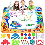 FOYOKEN Water Doodle Mat Magic Drawing Mat Birthday Gifts Kids Toddler Toys for 2 3 4 5 6 Years Old...