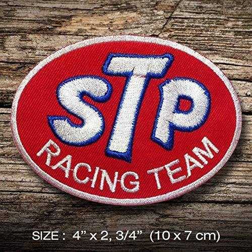 STP Racing Champion Power parche patch bordado con logotipo para planchar de hierro en apliques de recuerdo de accesorios