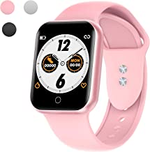 Smart Watch for Android and iOS Phones, Fitness Tracker with Heart Rate Monitor, Activity Tracker, Step Counter,Sleep Monitor, Pedometer, Calorie Counter, IP68 Waterproof Smartwatch for Women Men Pink