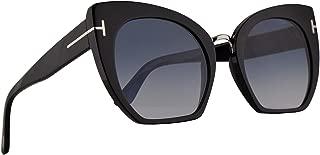 FT0553 Samantha-02 Sunglasses Shiny Black w/Blue Gradient Lens 55mm 01W FT553 TF 553 TF553